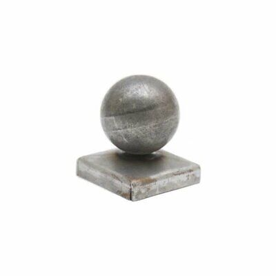 £5.95 • Buy Square Metal Fence Gate Post Cap Caps Flange From 25mm To 150mm Ball Top
