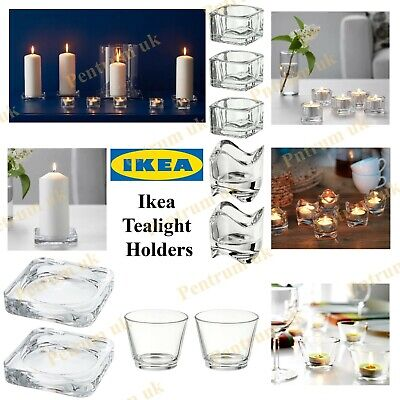 Ikea Glass Tea Light Candle Holder Wedding Christmas Party Restaurant Decoration • 9.99£