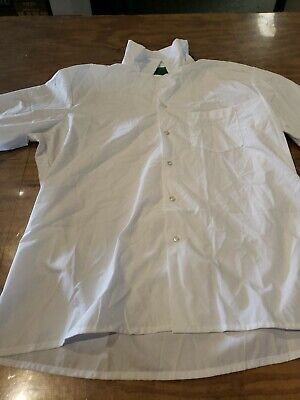 $12.99 • Buy Military Medical Assistant's Smock / Food Service White Button Shirt Xlarge