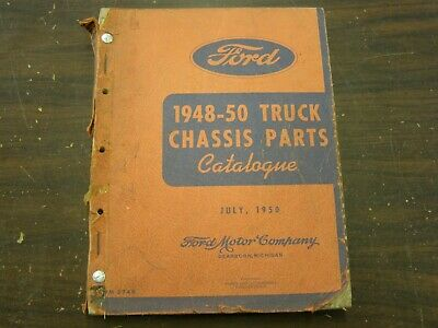 $119 • Buy OEM Ford 1948 1949 1950 Truck Pickup Master Parts Book Chassis Catalog