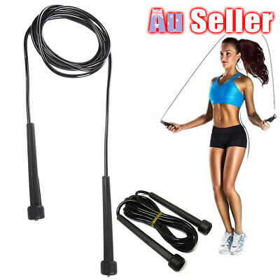 AU10.45 • Buy Fitness Gym MMA Boxing Crossfit Cardio Excercise PVC Skipping Jump Rope Speed
