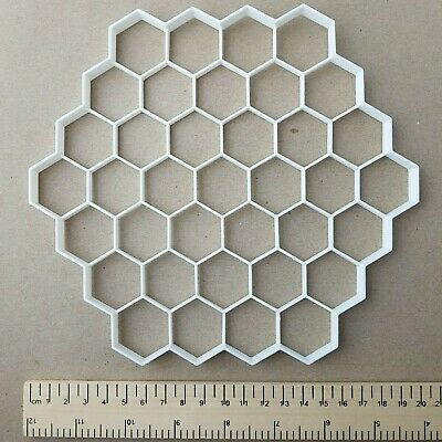 Honeycomb Shape Giant Biscuit Cookie Cutter Large Big Hexagon Jumbo Bee Stencil • 12.49£