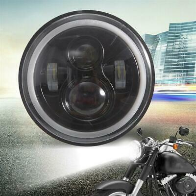 AU35.89 • Buy LED Headlight For Harley Motorcycle 7 Inch Round Headlamp Driving Light H-L DRL