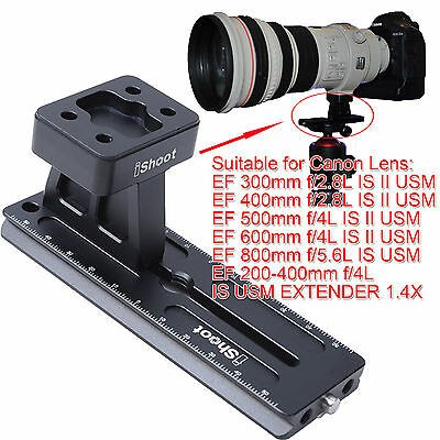 £23.99 • Buy Tripod Mount Ring Base + Camera Quick Release Plate For Canon Long Lens Collar
