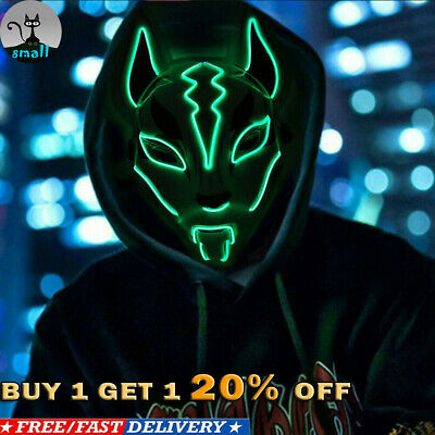 $ CDN10.47 • Buy Fortnite Fox Drift Masks Hand Painting Animal Mask Halloween Party Cosplay Prop
