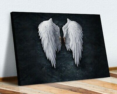 Fallen Broken Angel Wings Banksy White Canvas Street Wall Art Picture Print  Xl • 12.99£