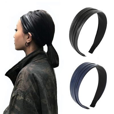 $ CDN5.13 • Buy Lady Girl's Wide Leather Hairband Headband Hair Band Hoop Accessories Party