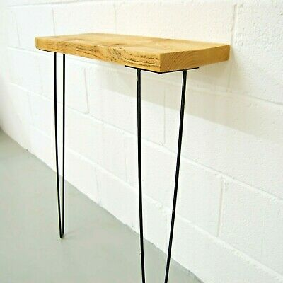Narrow Console Table With Hairpin Legs | Wooden Rustic Hallway Table • 44.80£