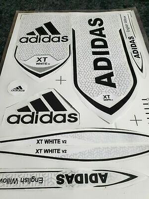 *3d/embossed* Adidas Xt White Cricket Bat Sticker + 1 Free 2d Different Sticker  • 10.99£