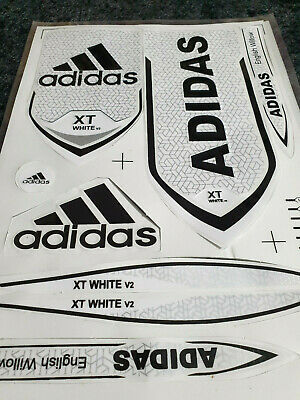 *3d/embossed* Adidas Xt White V2 Cricket Bat Sticker + 1 2d Different Sticker Fr • 10.99£
