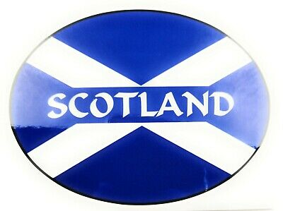 Scotland On Saltire Flag Car Bumper Sticker Decal • 2.99£