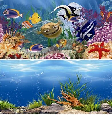 AU14.56 • Buy Aquarium Fish Tank Background Double Sided 12  / 30cm High - 2 To 10 FT Lengths