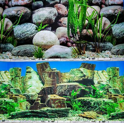 AU15.99 • Buy Aquarium Fish Tank Background Double Sided 16  / 40cm High - 2 To 10 FT Lengths
