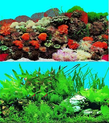 AU13.97 • Buy Aquarium Fish Tank Background Double Sided 16  / 40cm High - 2 To 10 FT Lengths