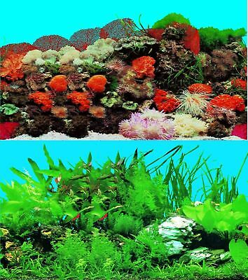 AU17.32 • Buy Aquarium Fish Tank Background Double Sided 16  / 40cm High - 2 To 10 FT Lengths