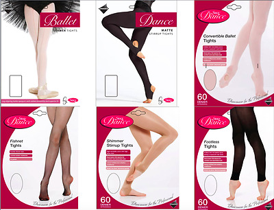 £3.99 • Buy Girls Dance Tights Ballet - Convertible Stirrup Seamer Footed Fishnet Footless
