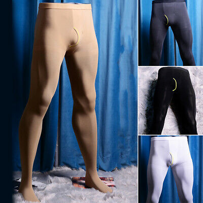 $13.99 • Buy Mens Winter Warm Thermal Pantyhose Stretch Tights Footed Underwear Pant Stocking