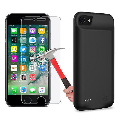 AU53.19 • Buy 5500mAh 250% Extra Battery Power Protective Charger Case (iPhone6/6S/7/8-Plus)