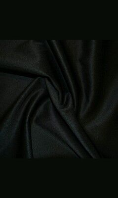 Shiny Faux LEATHER Look Polyester Stretch Dance Fabric Material 60  Width BLACK • 6.99£