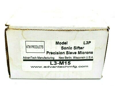 £383.08 • Buy ATM Products AdvanTech Mfg L3P 3  Sonic Sifter Precision Sieve 15 Microns L3-M15
