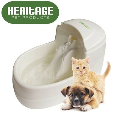 £15.95 • Buy Heritage Automatic Drinking Fountain 2.5L Dog Cat Fresh Water Bowl Puppy Drinker