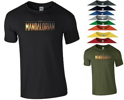 The Mandalorian T Shirt Star Wars Fans TV Series Birthday Xmas Gift Men Tee Top • 8.99£