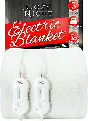 £39.95 • Buy Double Electric Blanket Dual Control Fleece Size Heated Bed Under Cover Washable