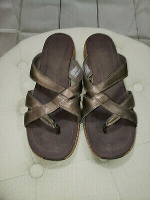 $19.99 • Buy Merrell Sundial Cross Antique Brass Leather Sandals Women's Size 9 FAST SHIP