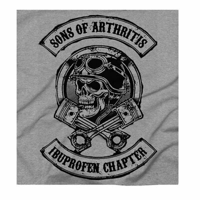 £12.50 • Buy Men's Biker Sons Of Anarchy Funny Gift For A Biker Grey T-Shirt Free UK Delivery