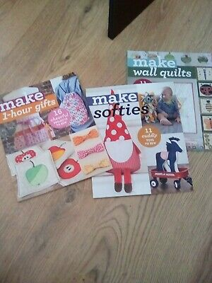 3 X Sewing Project Books ' Make ' Series • 5£