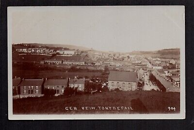 Tonyrefail Near Pontypridd - General View - Real Photographic Postcard • 16£