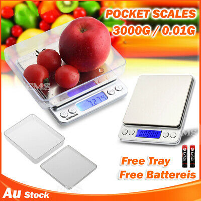AU18.99 • Buy 0.01g~500g 0.10g~3KG Digital Pocket Scales Jewellery Electronic Milligram Micro