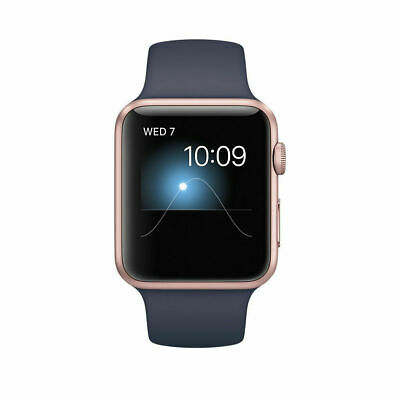 $ CDN374.66 • Buy New Apple Watch Series 1 42mm Rose Gold Aluminum Case Midnight Blue Sport Band
