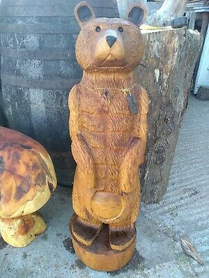 Sussex Chainsaw Carving Elm Bear Great Gift Idea Wooden Garden Or Home Sculpture • 400£