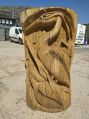 Sussex Chainsaw Carving Heron Great Gift Idea Wooden Garden Or Home Sculpture • 180£