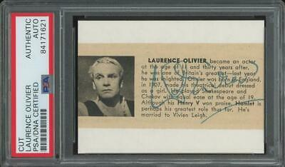 LAURENCE OLIVIER Autograph Cut | Signed - PSA/DNA Certified/slabbed • 35.53£