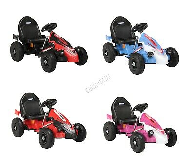 GALACTICA Electric Kids Go Kart Racing Pedal Ride On Car Rubber Tyre 12V Battery • 85.99£