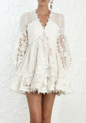 New Zimmermann Design Corsage Design Embellished Runway MINI Dress US 0 | 1 | 2 • 395$