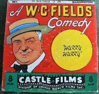 $ CDN9.99 • Buy Vintage 8mm Castle Films Comedy # 817 W.C. Fields In Hurry Hurry Rare With Box