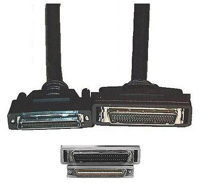 $44.99 • Buy 6ft Long 68pin .8mm VHD/VHDCI~SCSI-2 HPDB50/HD50/MD50 Male~M Cable/Cord/Wire