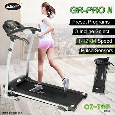 AU264.29 • Buy Genki Electric Treadmill Exercise Incline Running Machine Fitness Gym Equipment