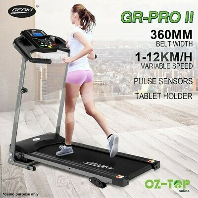 AU294.39 • Buy Genki Electric Treadmill Running Incline Equipment Gym Exercise Fitness Machine