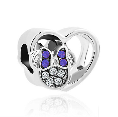 OPenwork Minnie Mouse Pink Bow European Charm & Gift Pouch - Silver Tone- Disney • 5.94£