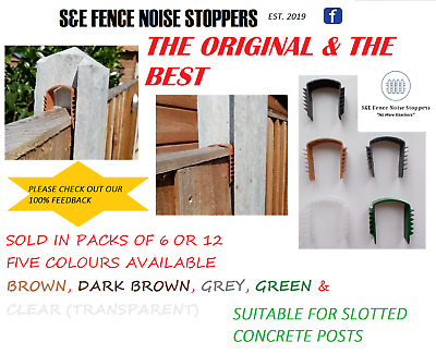 £12.95 • Buy FENCE NOISE STOPPERS (BAG Of 12) *CHOICE OF 6 COLOURS* - STOPS RATTLING