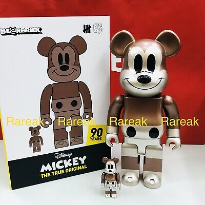 $1812.99 • Buy Medicom Be@rbrick Disney X Undefeated Mickey 400% + 100% True Original Bearbrick