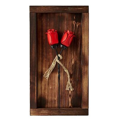 £55.45 • Buy Rose Set In Mountable Wooden Frame - Anniversary Gift For Her Forged Iron