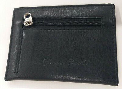 £3.99 • Buy PURE Soft Leather Bus Pass Travel Card Wallet Holder With Zip Coin Pouch