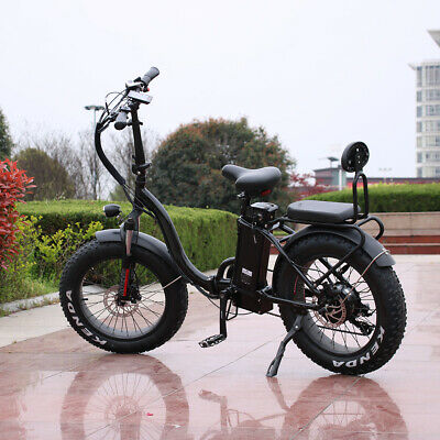 £1415.27 • Buy 1000w/48v Two Seater Fat Tire Folding Electric Bicycle Ebike Scooter NEW