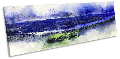 Lake District Windermere Picture PANORAMA CANVAS WALL ART Print Blue • 46.99£
