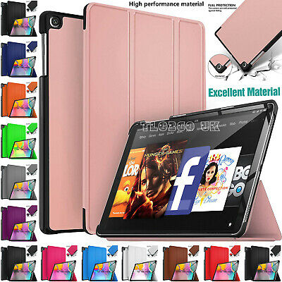 Case Cover For Amazon Kindle Fire 7  10  9th Generation 2019 Leather Smart Flip • 6.96£